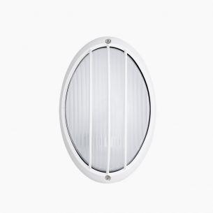 LED Leuchte mit Strukturglas, Aluguss, weiß oder schwarz  - inklusive LED 7Watt , Höhe 21,5cm