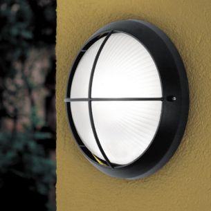 LED Leuchte mit Strukturglas, Aluguss, weiß oder schwarz  - inklusive LED 7Watt