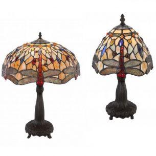 Tiffany-Tischleuchte Ø 20cm oder 40cm, Metall bronze antik