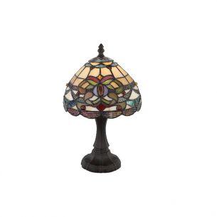 Tiffany-Tischleuchte  Metall bronze antik, Ø 20cm Höhe 36cm - inklusive Leuchtmittel E14 40W