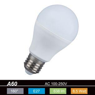 A60 AGL LED  E27 8,5 Watt  2700K  230V  638lm 160° nicht dimmbar
