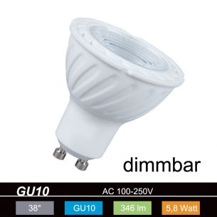 QPAR51 LED  GU10 5,8W warmweiß 2700K 230V 346lm 560cd 38° dimmbar