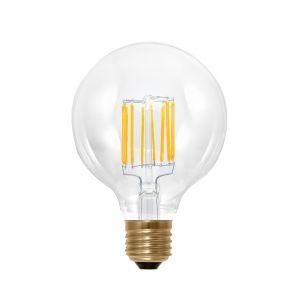 G95 LED Globe 6Watt, E27,Fadenleuchtmittel, 2200K, Edison Bauform, klar, dimmbar, 620lm