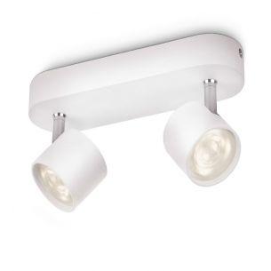 Moderne LED-Spotserie - 2-flammiger Deckenstrahler - Weiss weiß