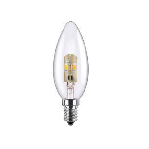 C35 LED Kerze 2,7 Watt, E14, klar, dimmbar 1x 2,7 Watt, A+, 2,7 Watt, 15,00 Watt, 136,0 Lumen, 100,00 mm
