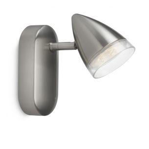 LED-Strahlerserie - Chrom-matt - 1-flammiger Wand- oder Deckenstrahler - Inklusive LED 4 Watt  230 Lumen