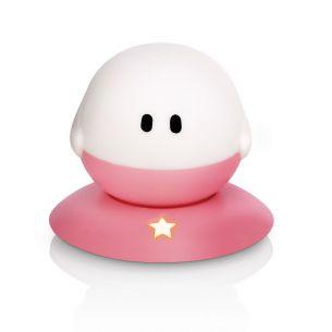 Kinder Nacht- und Orientierungslicht - LED 1 Watt - Einfach aufladbar - Bollie rosa/weiß, 10,10 cm, 11,10 cm, 10,20 cm