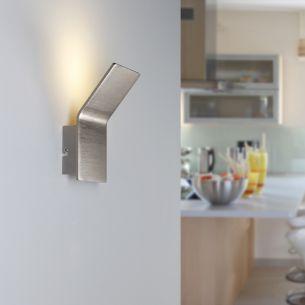 LED-Wandleuchte mit indirektem Beleuchtungseffekt - inklusive 5Watt LED-Leuchtmittel - wählbar in Nickel-matt oder Weiß