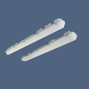 LED-Feuchtraumleuchte aus PMMA/Polyester IP 65, Länge und Wattage wählbar, Lichtfarbe 4000°K
