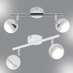 LED-Strahlerserie - 2-flammig - in 2 Farben