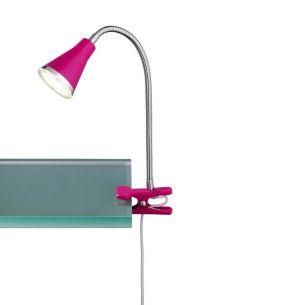 Moderne LED-Klemmleuchte für den Schreibtisch - aus Kunststoff - inklusive LEDs - in pink pink