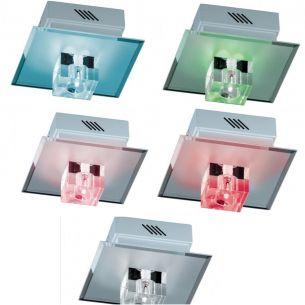 LED-Deckenleuchte - LEDs zuschaltbar zu weißem Halogen Licht mit Fernbedienung