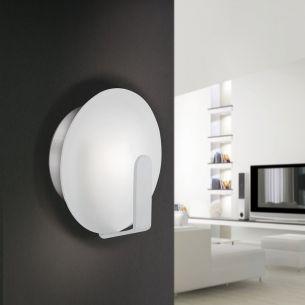 LED-Wandleuchte mit indirektem Lichteffekt in Ø15cm - aluminiumfarben - inklusive warmweißer LED - 3000K  + LED-Taschenlampe