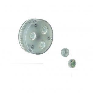 GX53 LED Leuchtmittel EEK A, 4,2W , warmweiß 3000°K, 200lm, 550cd, Abstrahlwinkel 35°