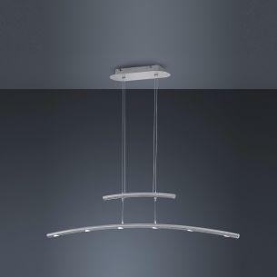 Dimmbare LED-Zugpendelleuchte, inkl. 6× SMD 4,5 W  LED, je 430lm, 3000°K  mit 4-Stufen-Touchdimmer