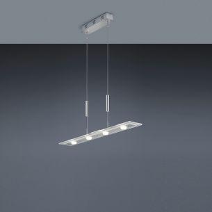 Dimmbare LED-Zugpendelleuchte, inkl. 4× SMD 4,5 W  LED, je 430lm, 3000°K  mit 4-Stufen-Touchdimmer