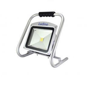 Ledino LED Flutlichtstrahler A++, 30W, Li-Ion Akku 8.8Ah, grau, IP 65, 2700lm