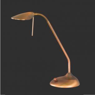 Dimmbare LED-Tischleuchte mit Flexarm in Altmessing - innovative LED-Technik in klassischer Leuchte