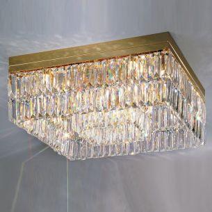 16x 25 Watt, gold, 24 Karat  vergoldet, 55,00 cm, 55,00 cm