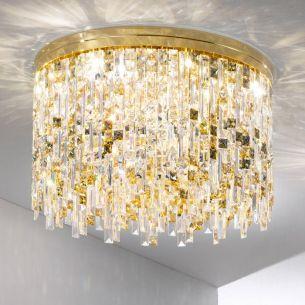 12x 25 Watt, gold, 24 Karat  vergoldet, 60,00 cm