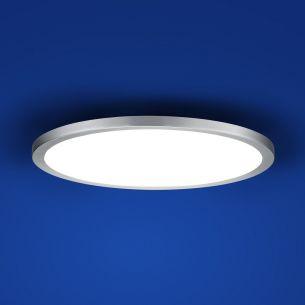 Schlichte LED-Deckenleuchte 40 cm - Nickel-matt - inklusive 30W