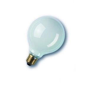 Glühlampe Leuchtmittel G80 Globe 60W opal weiß E27 blendfrei 1x 60 Watt, 60 Watt, 425,0 Lumen