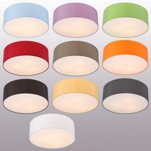 Runde Deckenleuchte mit attraktivem Lampenschirm aus Chintz-Stoff - 10 verschiedene Farben - 52 cm Durchmesser