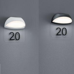 Moderne LED-Hausnummernleuchte - Aluminium - Kunststoff - 2 Farben - Inklusive LED 5 Watt 550 Lumen 3000 Kelvin