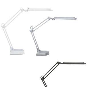 Schreibtischlampe mit Standfuß - Inklusive Energiesparlampe 11 Watt  6500 Kelvin  840 Lumen - 3 Farben