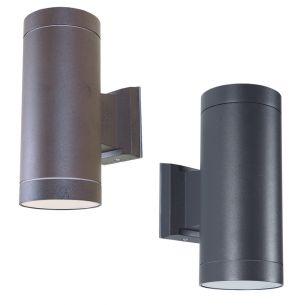 Klassische Außenwandleuchte - Up and Down - Aluminium - 2 Farben - Rost oder Anthrazit - IP 54