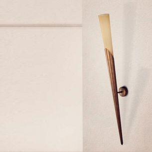 Klassische Wandfackel -  3 Oberflächen - Höhe 97 cm - Für Leuchtmittel E14  60 Watt