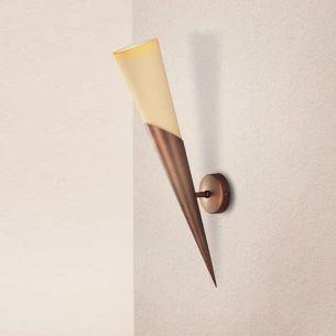 Klassische Wandfackel -  3 Oberflächen - Höhe 46 cm - Für Leuchtmittel E14  60 Watt