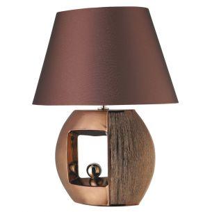 Tischleuchte Window mit Stofflampenschirm in 3 Farben