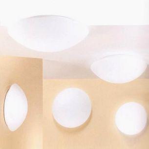 Deckenleuchte Glas in weiß, verschiedene Größen