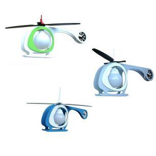 Kinderzimmerlampe Helikopter in drei Farben
