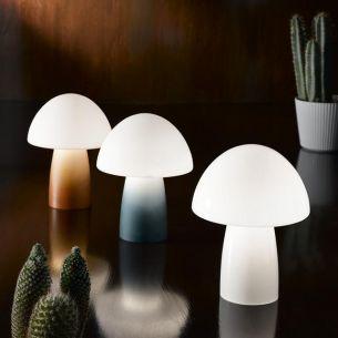 Tischleuchte aus Glas, verschiedene Farben wählbar