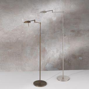 LED-Leseleuchte mit Bridgegelenk  in Nickel-satiniert und Bronze-antik 6W 520 lm neutralweiß