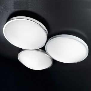 LED-Deckenleuchte Ø 40cm in Weiß, Chrom und Nickel, inklusive 1x27W LED, 2700lm, 3000°K warmweiß, IP41