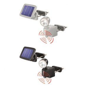 LED-Solar-Strahler mit 90° Bewegungsmelder in Schwarz oder Grau
