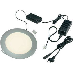 Runde LED Panelleuchte aus massivem Aluminium und 90 LEDs: Tageslicht