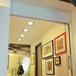 LED Panelleuchte mit 120 LEDs - massives Aluminium - Tageslicht oder warm-weißes Licht