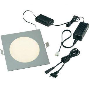 Quadratische LED Panelleuchte aus massivem Aluminium mit 120 LEDs - Tageslicht oder warm-weißes Licht