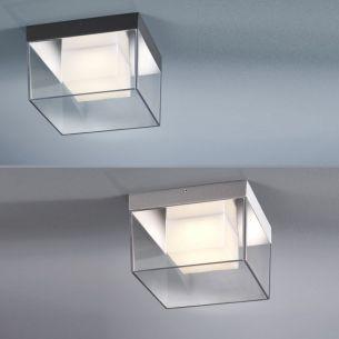LED-Deckenleuchte im Eiswürfel-Look in zwei Farben: Schwarz-matt oder Silbergrau