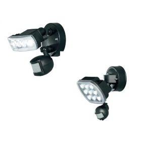 LED-Außen-Wandleuchte - Beweglicher Leuchtenkopf - Aluminium - Kunststoff - Mit Bewegungsmelder - 2 Größen