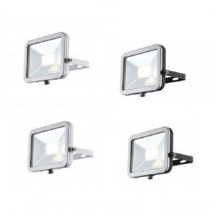 Schwenkbarer LED-Baustrahler aus Aluminiumdruckguss mit Klarglas inklusive LED-Leuchtmittel - in vier Varianten wählbar