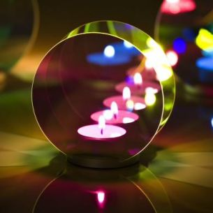 Candle Light von OCCHIO in verschiedenen Farben mit Endlos-Effekt, Fuß Chrom