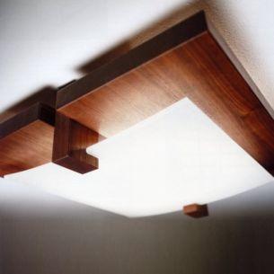 Holzdeckenleuchten holzdeckenlampen im onlneshop wohnlicht for Deckenlampe holz