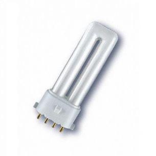 Energiesparlampe  Osram Dulux S/E  2G7 für EVG 9W warmweiß 2.700K