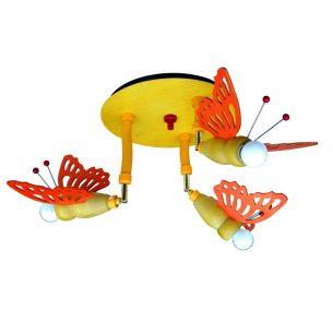 Deckenleuchte mit Schmetterlingen, 3-flammig