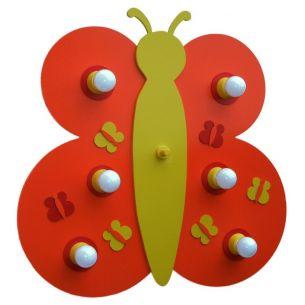 Wandleuchte Schmetterling in orange und gelb